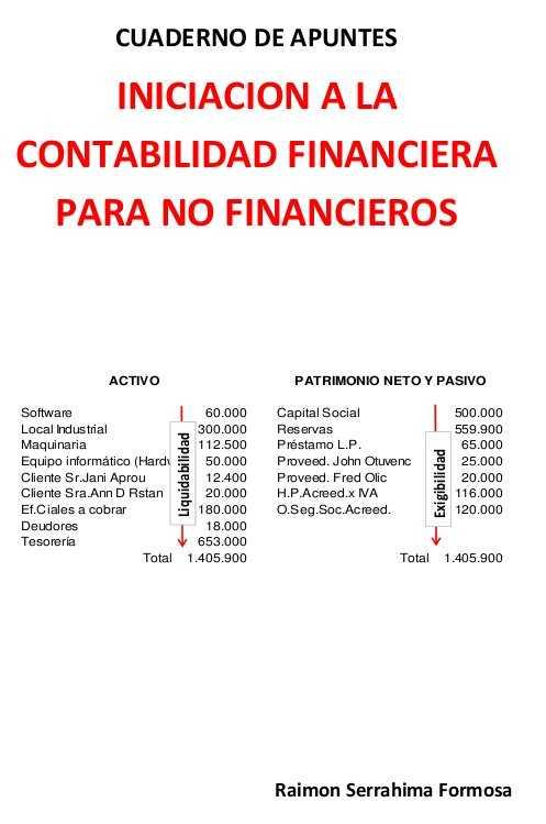 Iniciación a la contabilidad financiera para no financieros