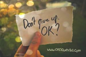 Persevera: No abandones