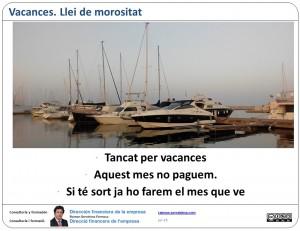 Morositat: Excuses de temporada