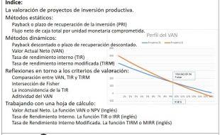 Valoración inversion productiva