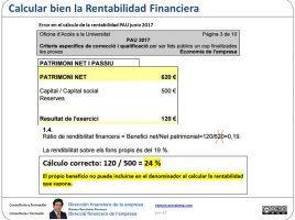 Calcular bien la Rentabilidad Financiera